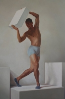 Jhe (from the Charlotte Ballet Innovative Works Series) 32 X 48, oil on panel (2010) AVAILABLE