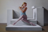 Traci Gilchrest-The Swan (Charlotte Ballet Innovative Works) 24 X 36, oil on panel (2008) AVAILABLE