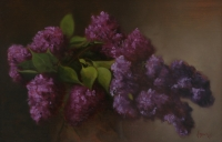 Lilac I, 15 X 18, oil on panel (2004)-SOLD
