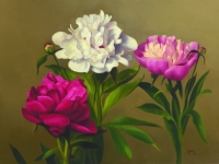 Peonies 12 X 16, oil on panel (2004)--SOLD