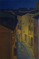 Bologna at Night, 8 X 12, oil on panel (2013) SOLD