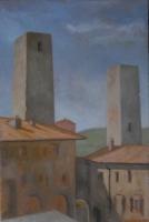 La Piazza Cisterna in San Gimignano, 8 X 12 2007