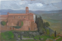 Montalcino, 8 X 12, oil on panel (2009) Private Collection