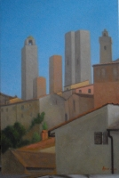 San Gimignano Towers, 8 X 12, oil on panel (2007-09)