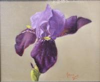 Iris I, 4.5 X 5.5, oil on panel (2014)