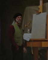 Self Portrait, oil on panel, 24 X 30, (2012)