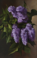 Lilac Branch (vertical)--SOLD